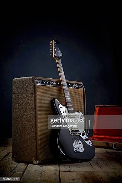 A vintage 1962 Fender Jaguar electric guitar and Fender Concert amplifier taken on November 17 2015