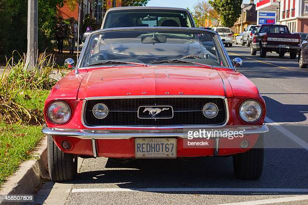 vintage 1967 ford mustang - ford mustang stock photos and pictures