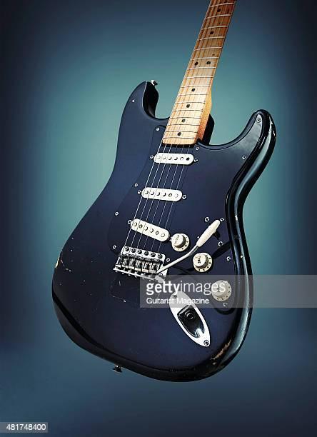 A vintage 1969 Fender Stratocaster belonging to Pink Floyd guitarist David Gilmour known as The Black Strat taken on December 5 2014