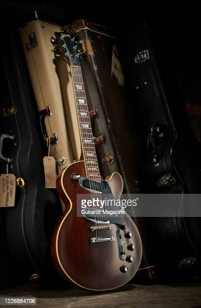 A vintage 1969 Gibson Les Paul Professional electric guitar with a transparent Walnut finish taken on July 22 2019
