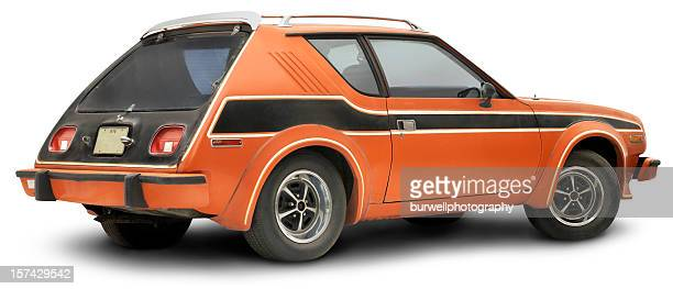 vintage 1978 orange gremlin, isolated on white - obsolete stock pictures, royalty-free photos & images