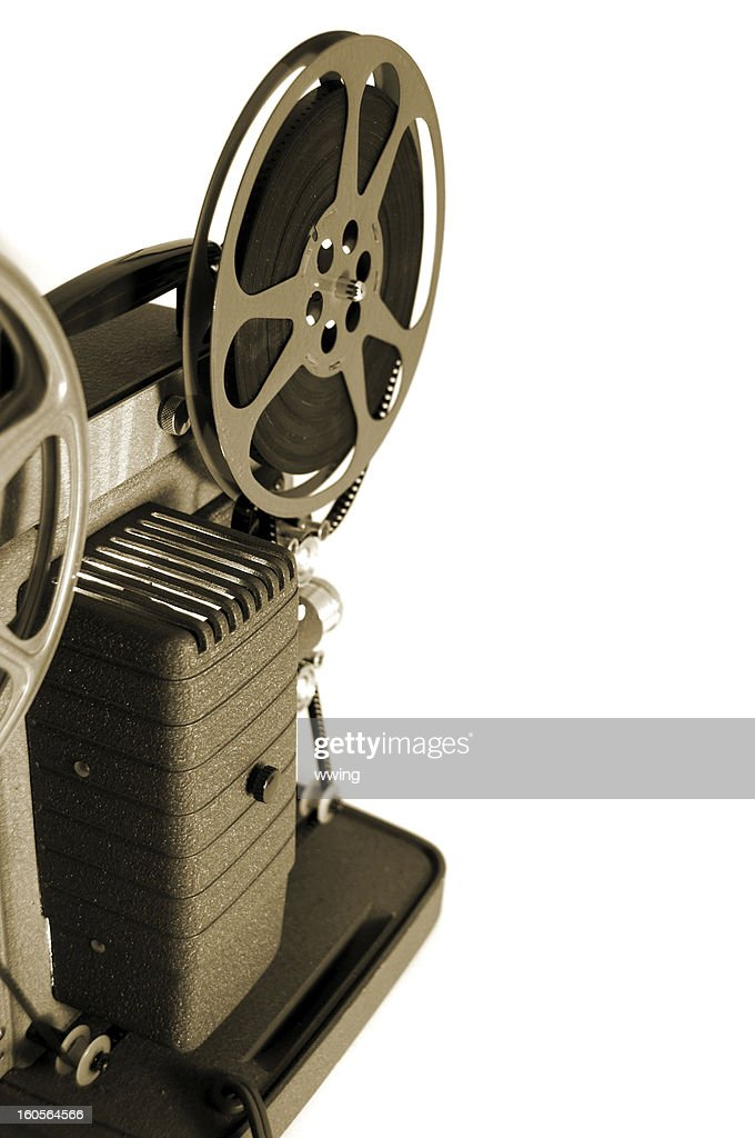 Vintage 8mm Movie Projector- Sepia : Stock Photo
