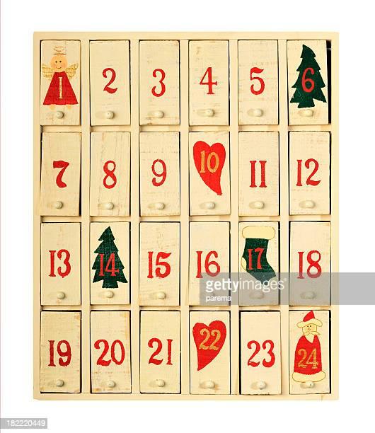 vintage calendario navideño - advent calendar fotografías e imágenes de stock