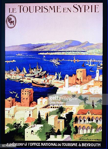 Vintage Advert for Syrian Tourism or Tourism in Syria