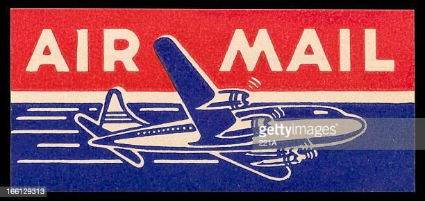 Vintage Air Mail sticker c. 1960