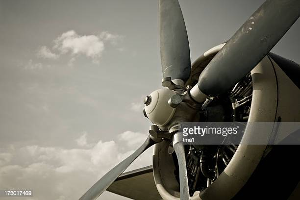 vintage aircraft - propeller stock pictures, royalty-free photos & images