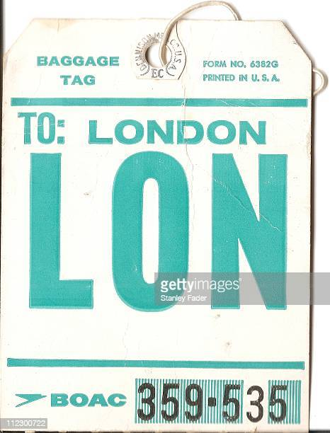 Vintage Airline Baggage Tag