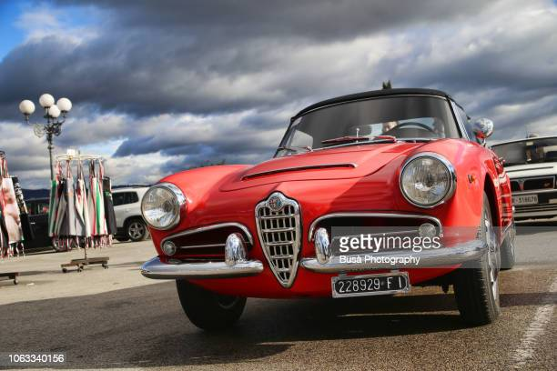 Vintage Alfa Romeo Giulietta Spider in Florence, Italy