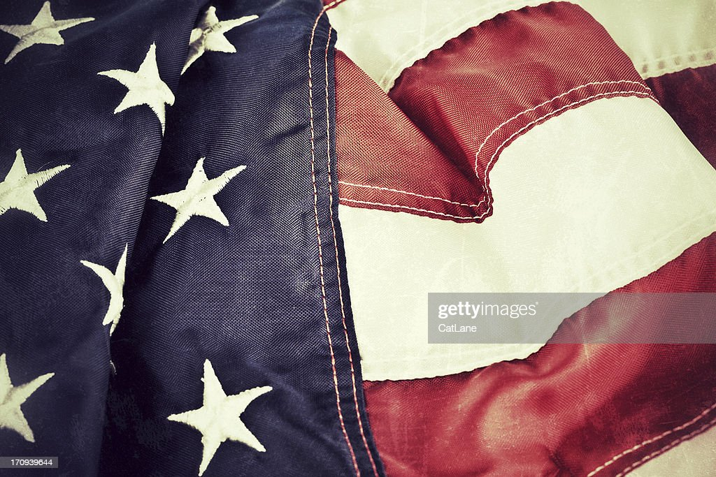 Vintage American Flag Background Stock Photo - Getty Images