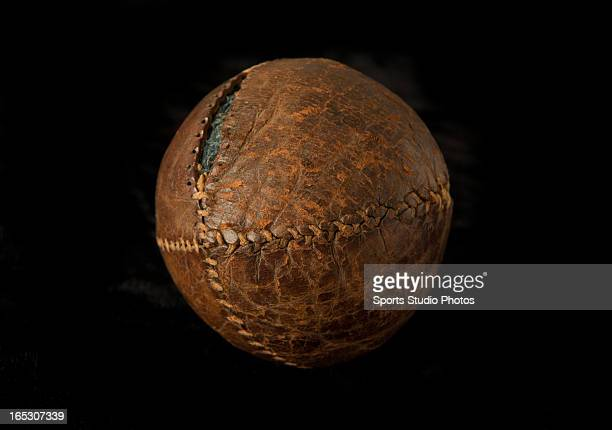 Vintage Antique Baseball Early turn of the century lemon peel style baseball Features leather exterior with antique style stitching