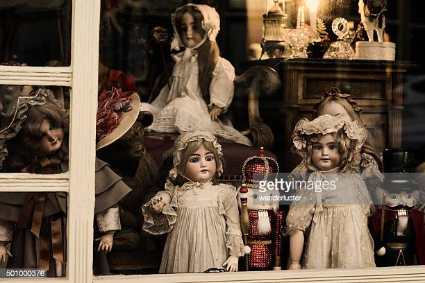 Vintage antique dolls and Nutcrackers