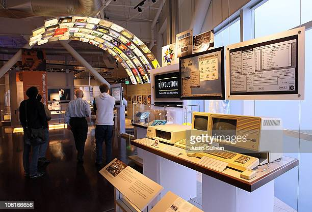 Vintage Apple computers are displayed at the Computer History Museum on January 19, 2011 in Mountain View, California. After a two year, $19 million...