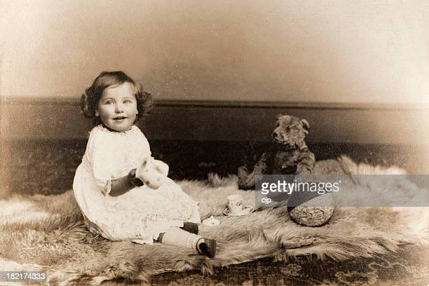 Vintage Baby Girl Portrait