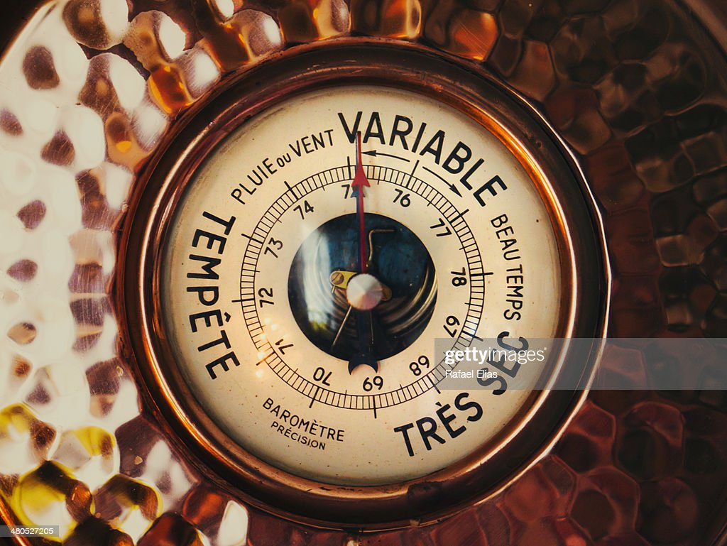 Vintage barometer : ストックフォト