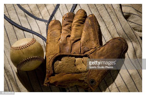 Vintage baseball glove photographed in the studio on March 18 2010 in Los Angeles California