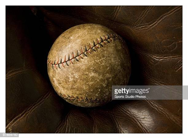 Vintage baseball photographed in the studio on March 18 2010 in Los Angeles California