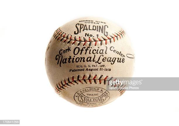 Vintage baseball Spalding Official National League baseball featuring twocolored stitching