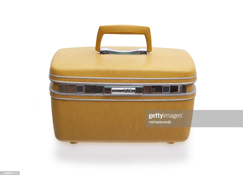 Vintage beauty or make-up case : Stock Photo