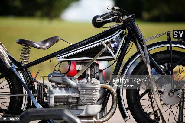 vintage beemer! - vintage motorcycle stock pictures, royalty-free photos & images