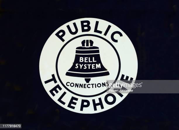 Vintage Bell System public telephone sign for sale in an antique shop in Nashville, Tennessee.