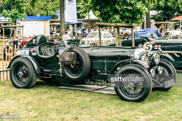 vintage bentley 4 1/2 litre sport  classic car - bentley stock pictures, royalty-free photos & images