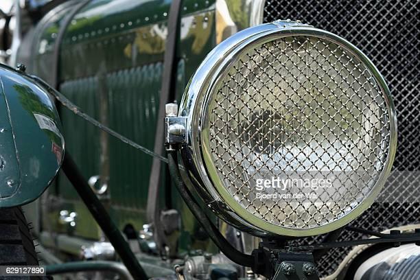 "vintage bentley classic car headlight - ""sjoerd van der wal"" stock pictures, royalty-free photos & images"