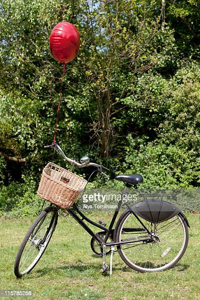 vintage bike with red balloon
