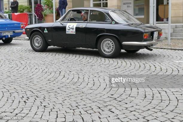 Vintage black Alfa Romeo spider