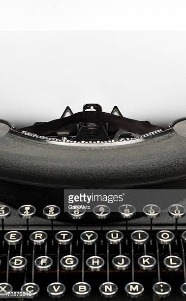 Vintage black typewriter w/paper for text