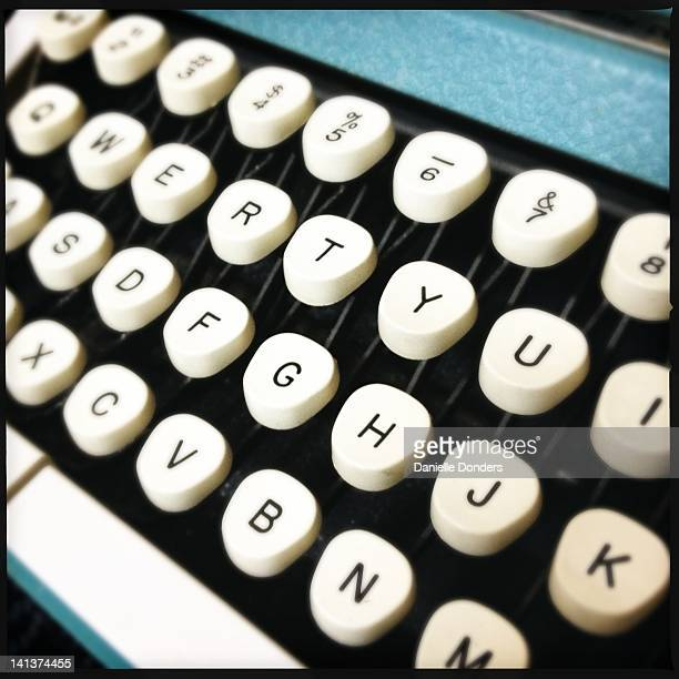Vintage blue Smith Corona typewriter keys