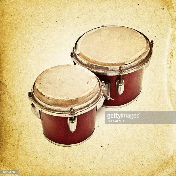 vintage bongo instrument