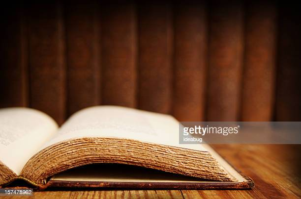 vintage book set - research - christianity stock pictures, royalty-free photos & images