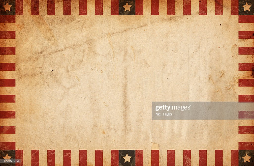Vintage Bordered Patriotic Paper XXXL : Stock Photo