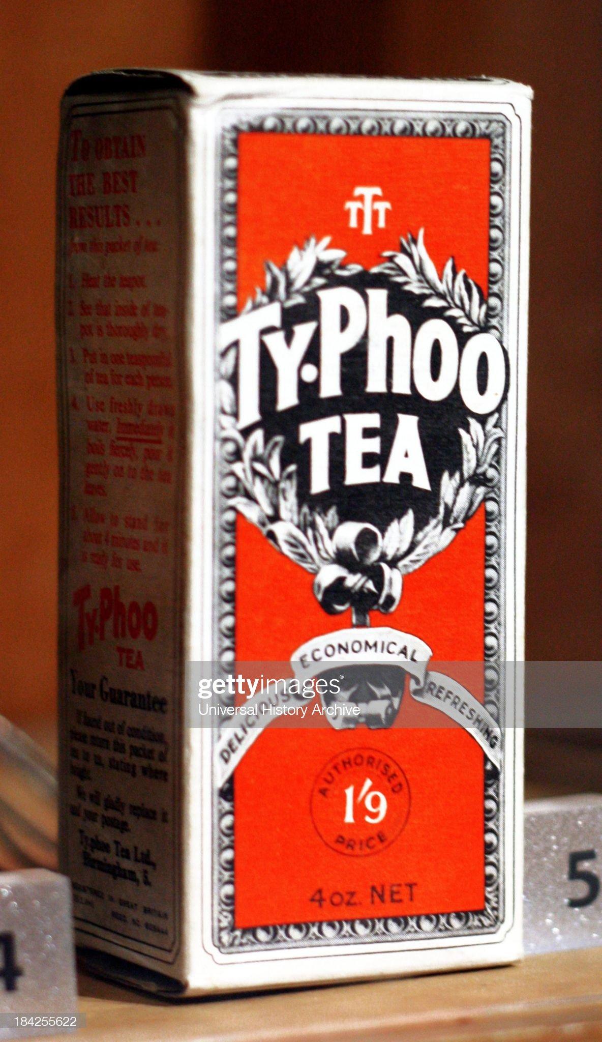 Vintage box of Typhoo tea : News Photo