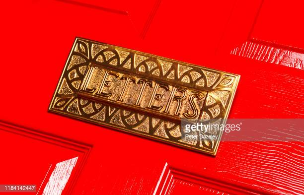 vintage brass mail boox/letterbox - brand name stock pictures, royalty-free photos & images