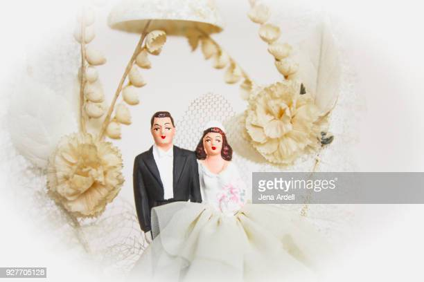 Vintage Bride And Groom Vintage Wedding Cake Topper