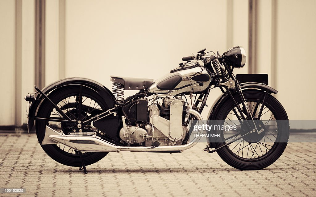 Vintage British Motorcycle Stock Photo - Getty Images