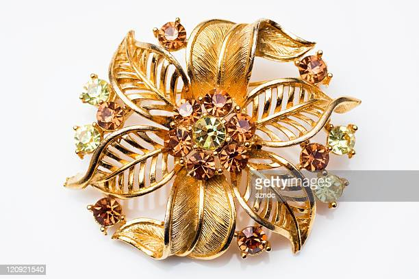 vintage brooch - broche stock pictures, royalty-free photos & images