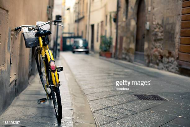 Vintage Bycicle leaning on the Wall, Italy