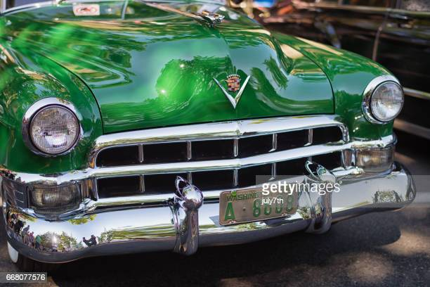 vintage cadillac - hood ornament stock pictures, royalty-free photos & images