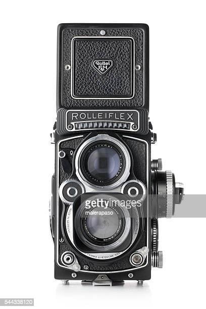 Vintage cámara. Rolleiflex, y conoció a formato medio 6 x 6 cm.