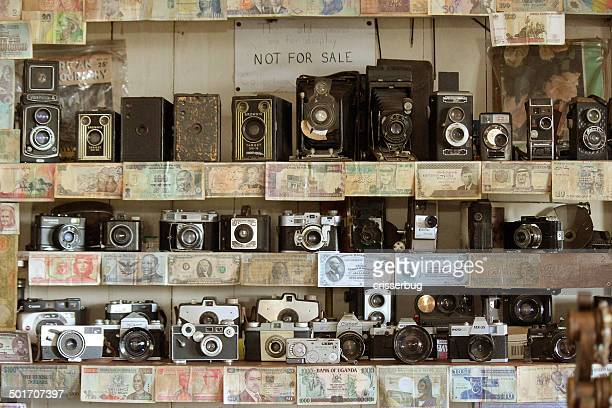Vintage Cameras and Currency