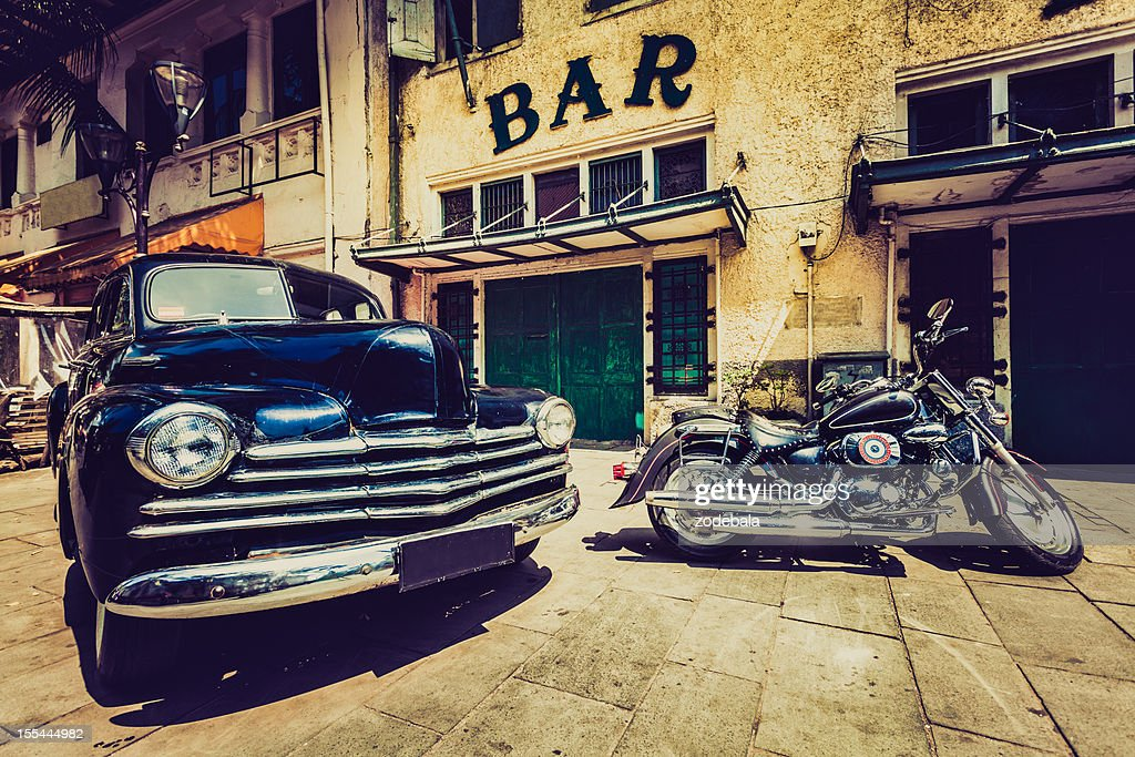 Vintage Car And Motorbike In Jakarta Indonesia Stock Photo Getty
