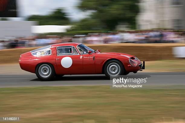 Vintage car competing at the Goodwood Festival of Speed in West Sussex taken on July 5 2009