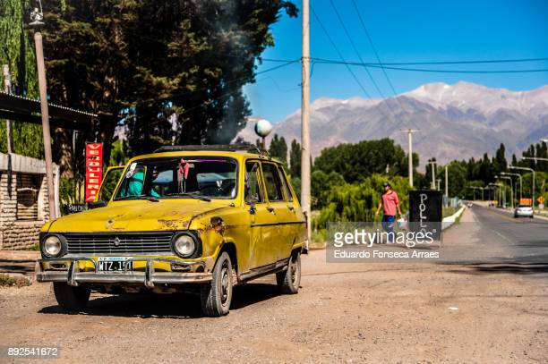 Vintage car in the Andes