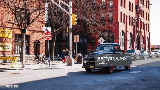 Vintage car in the street in Jersey City, NJ