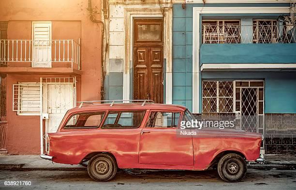 Oldtimer in Havanna, Kuba street