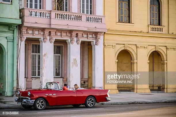 Vintage car on Malecon