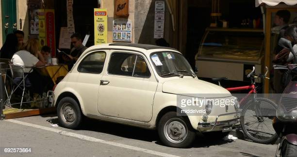 vintage car - renault 4 stock photos and pictures
