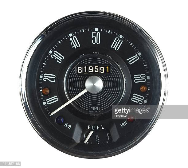 Vintage Car Speedometer From 1960s Classic